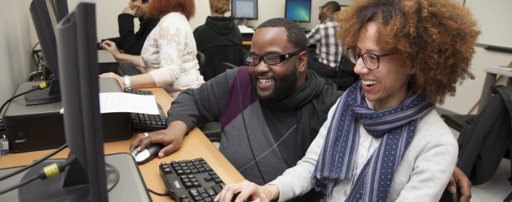 Jobs Plus Participants in a Computer Lab