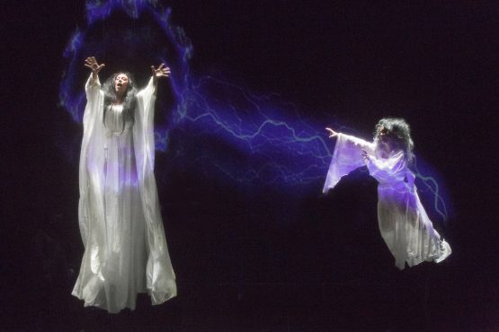 Performers as spirits in Basil Twist's Sisters' Follies: Between Two Worlds
