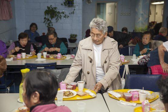 Seniors dining at the Senior Center
