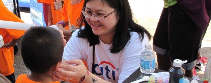 CITI Bank Volunteer Face-Painting