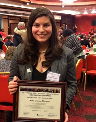 Kelly Lennon Martucci With Award