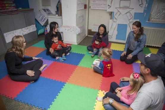 Parent Center Class with parents and children