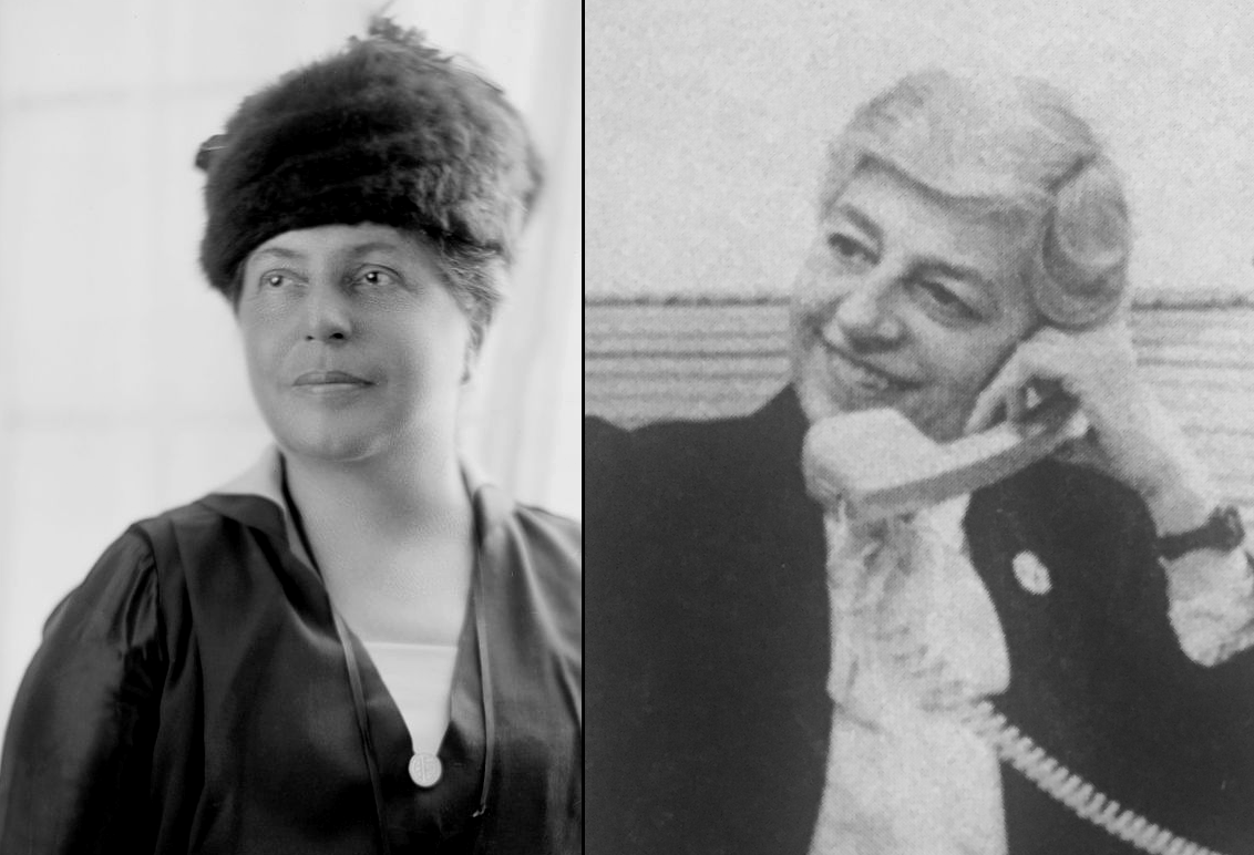 Side-by-side collage of Lillian Wald and Sylvia Bloom