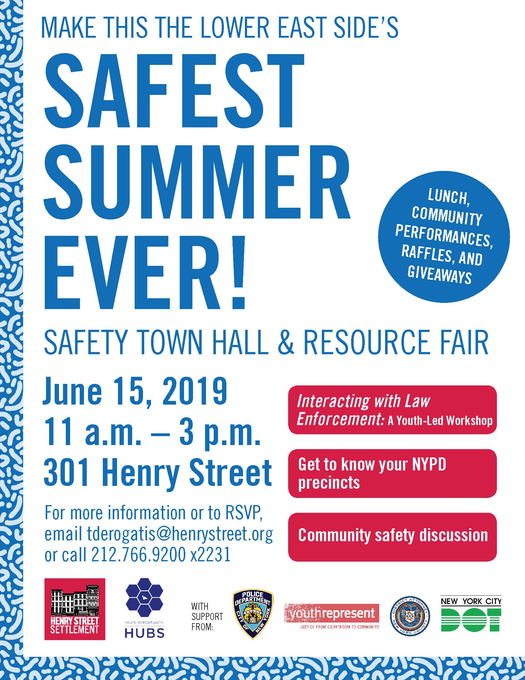 Safety Town Hall Flyer - 6/15/19