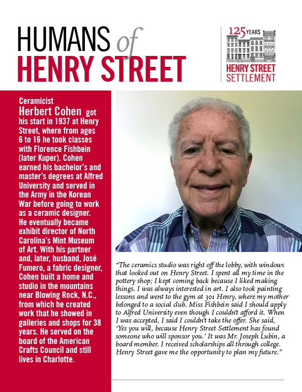 Humans of Henry Street - Herbert Cohen