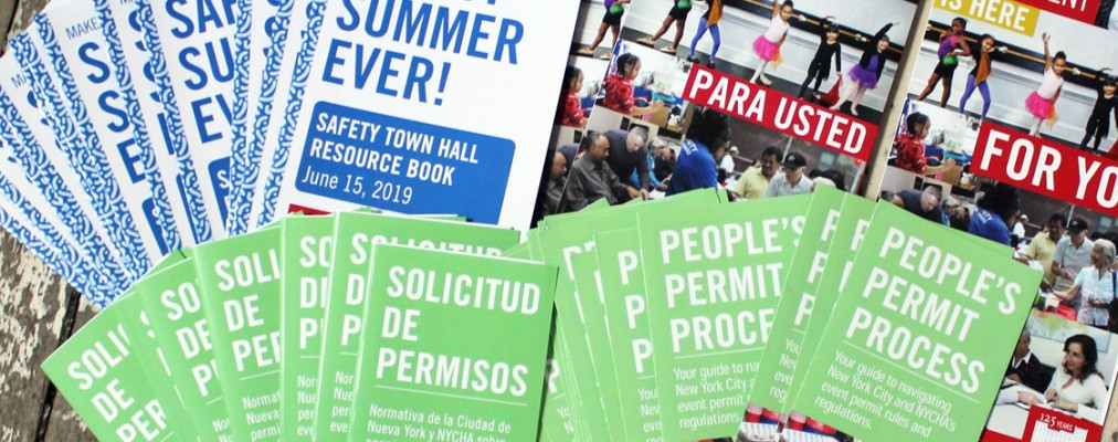 Piles of Henry Street Settlement publications