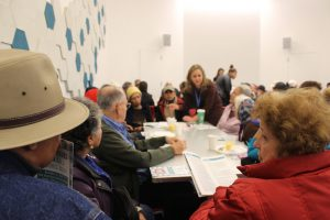 The scene at Henry Street's 11/22 Senior Issues town hall meeting.