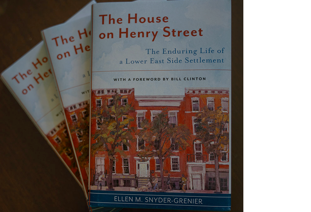 Copies of the book 'The House on Henry Street'