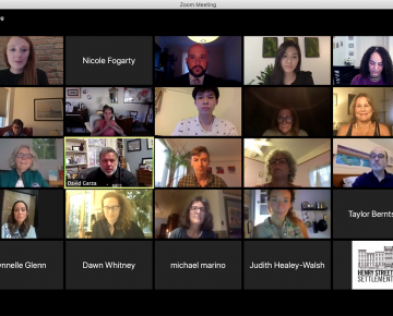 Grid of faces at the virtual Lillian Wald Symposium