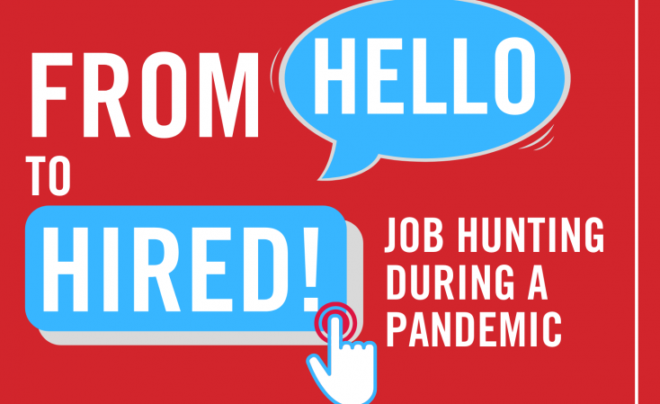 Job Hunting During A Pandemic Virtual Conference banner that says